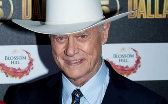 "Larry Hagman at the series premiere of ""Dallas"""