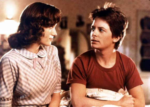 "Lea Thompson and Michael J. Fox in ""Back To The Future"""
