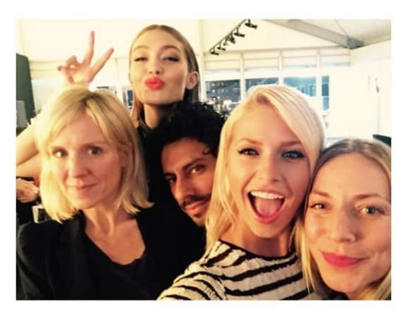 Lena Gercke und Gigi Hadid auf der Fashion Week