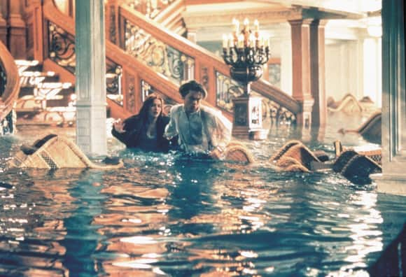 "Leonardo DiCaprio and Kate Winslet in ""Titanic"""