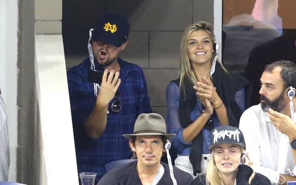 Leonardo DiCaprio und Kelly Rohrbach beim US-Open-Finale 2015 in New York