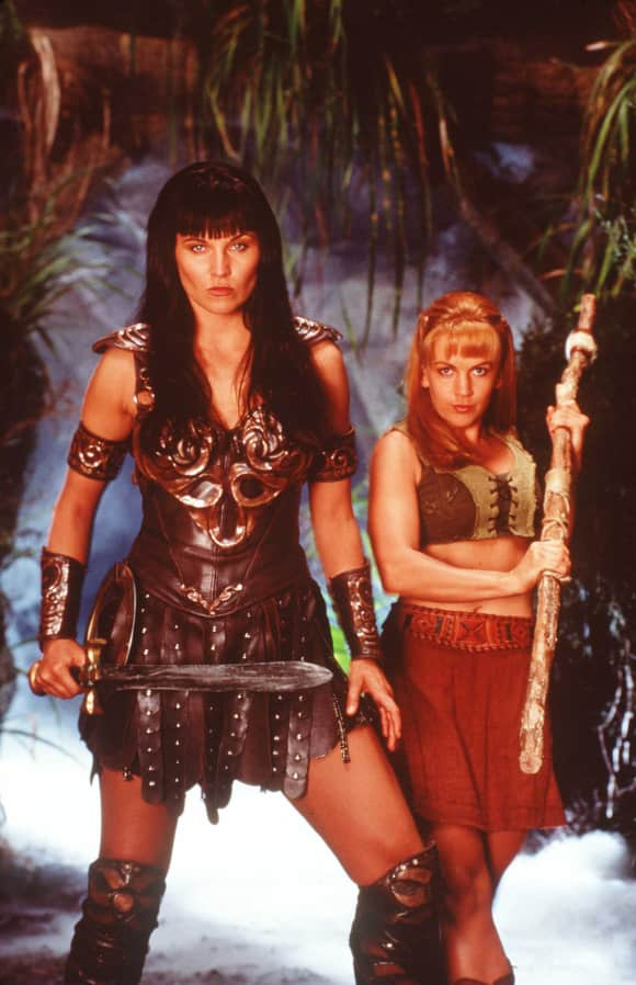 "Lucy Lawless und Renée O'Connor in ""Xena"""
