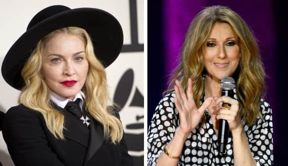 Madonna und Céline Dion