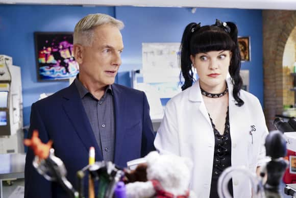 "Mark Harmon und Pauley Perrette in ""Navy CIS"""