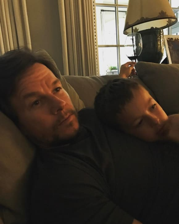 Mark Wahlberg with his son Brendan