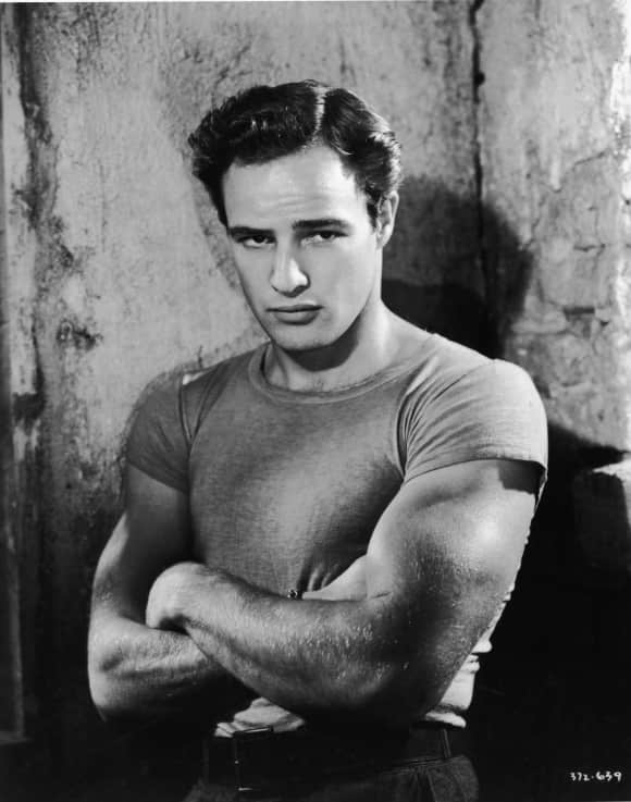 Marlon Brando is fifth in the website's ranking.