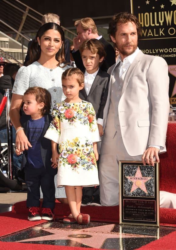 Matthew McConaughy with his family