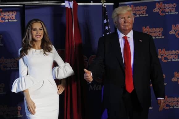 Melania und Donald Trump als Wachsfiguren