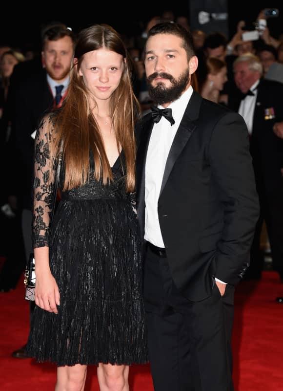 Shia LaBeouf und Mia Goth sind seit 2012 ein Paar