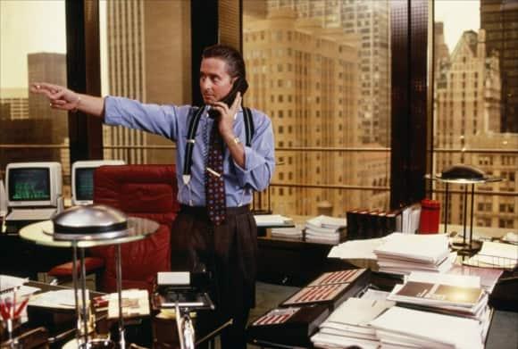 """""""Gordon Gekko"""" in """"Wall Street"""""""