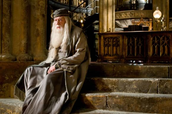 "Michael Gambon as ""Albus Dumbledore"" in the ""Harry Potter"" movies"