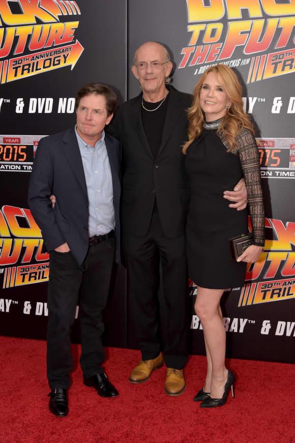 Michael J. Fox, Christopher Lloyd, Lea Thompson Zurück in die Zukunft Stars