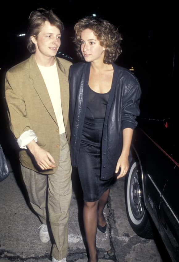 Actors Michael J. Fox Jennifer Grey Dated