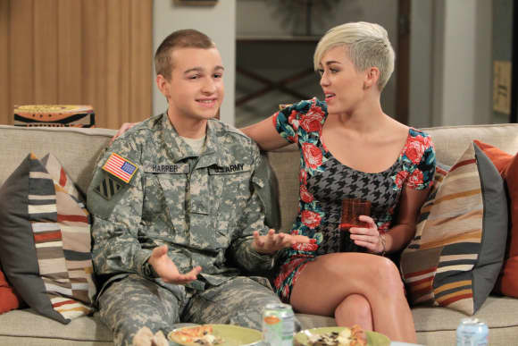 Miley Cyrus Angus T. Jones Two and a Half Men