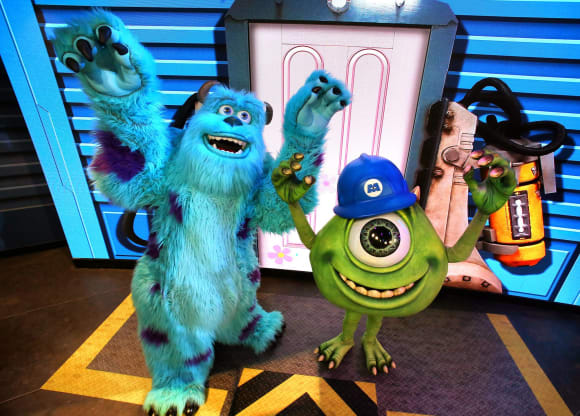 """""""James P. Sullivan"""" and """"Mike Wazowski"""" from Monsters Inc."""