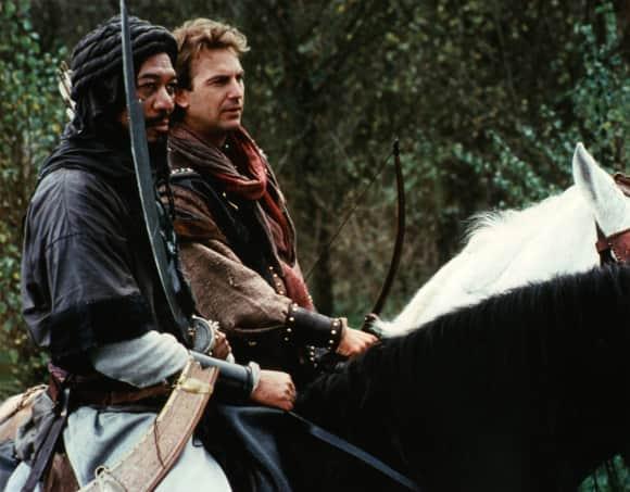 """Morgan Freeman alias """"Azeem"""" und Kevin Costner alias """"Robin Hood"""" in """"Robin Hood - König der Diebe"""""""