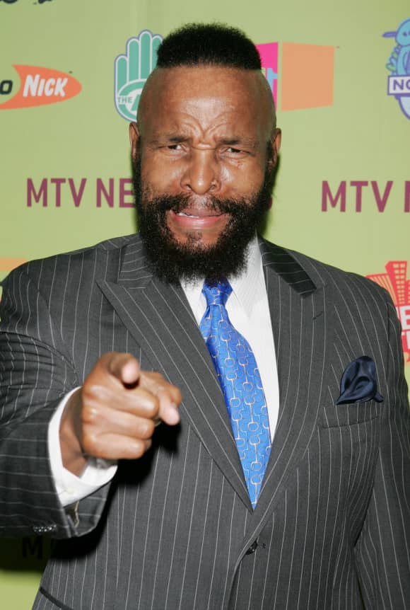 "Mr. T played the role of ""B.A."" in ""The A-Team"""