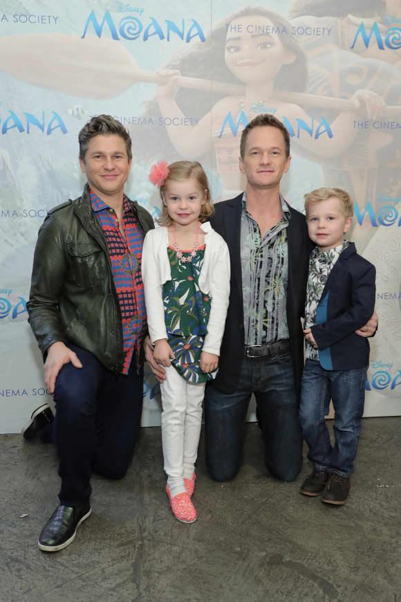 Neil Patrick Harris and David Burtka with their twins