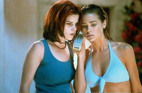 "Neve Campbell and Denise Richards in ""Wild Things"""