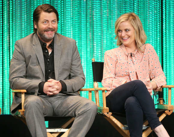 """Nick Offerman and Amy Poehler from """"Parks and Recreation"""""""