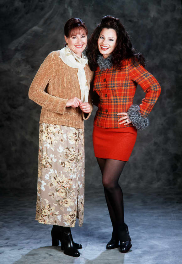 "Nora Dunn and Fran Drescher in ""The Nanny"""