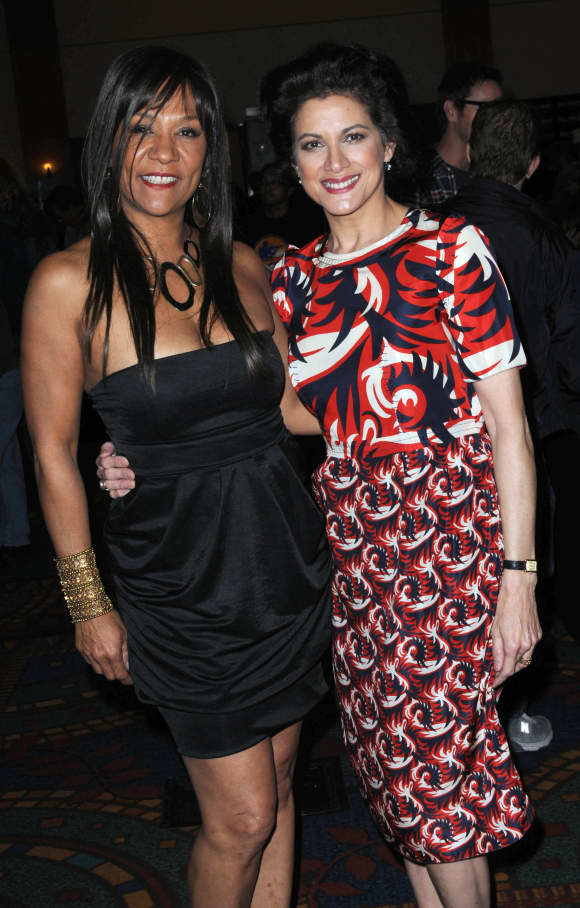 Olivia Brown and Saundra Santiago today