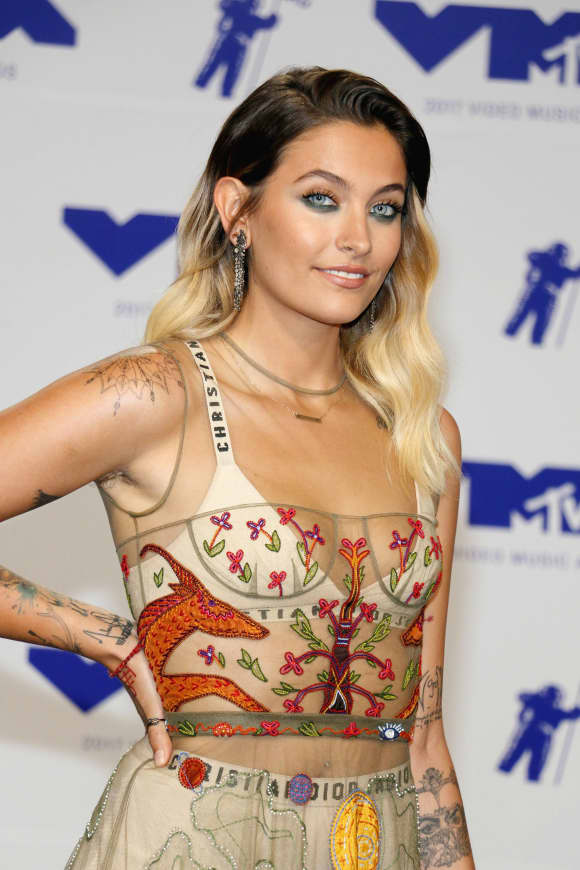 Paris Jackson at the MTV VMAs back in 2017