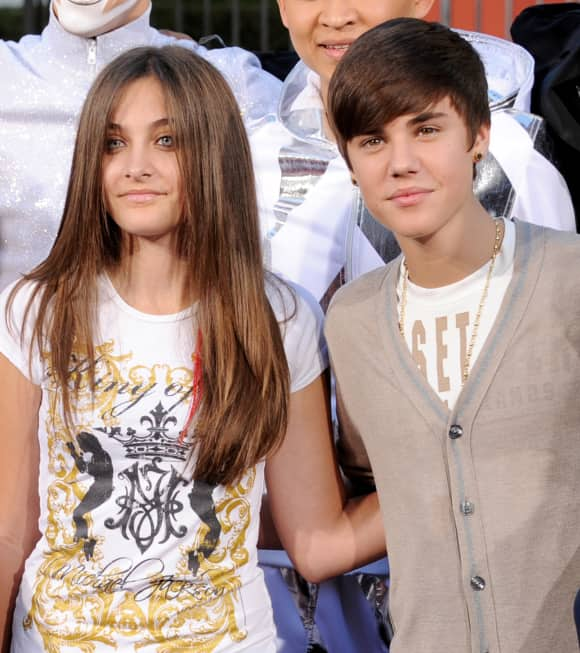 Paris Jackson and Justin Bieber back in 2012