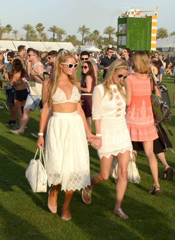 Paris und Nicki Hilton auf dem Choachella-Festival 2015