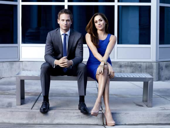 Patrick J. Adams and Meghan Markle in Suits