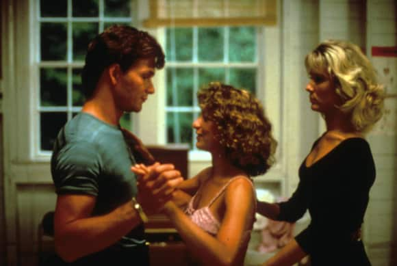 "Patrick Swayze, Jennifer Grey and Cynthia Rhodes in ""Dirty Dancing"""