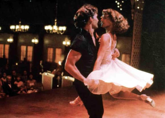 "Patrick Swayze as ""Johnny"" and Jennifer Grey as ""Baby"" in ""Dirty Dancing"""
