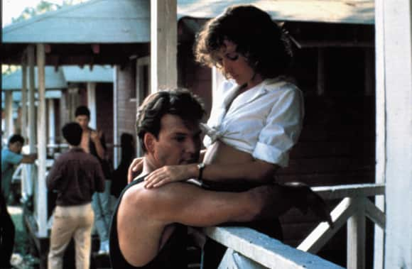 "Patrick Swayze and Jennifer Grey in""Dirty Dancing"""