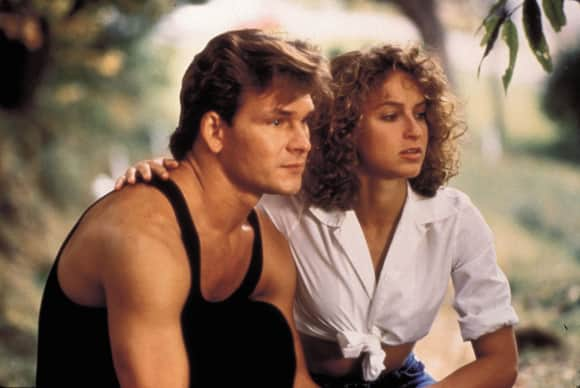 "Patrick Swayze and Jennifer Grey in ""Dirty Dancing"""
