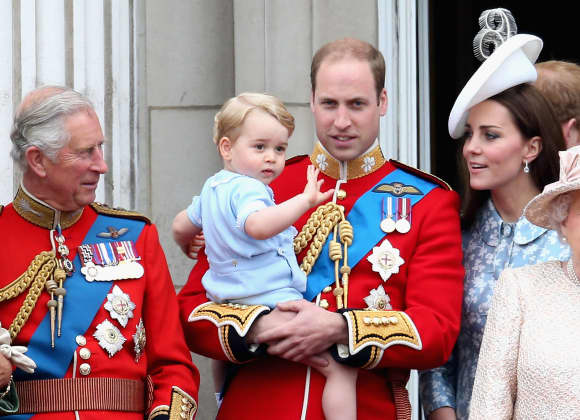 Prince Charles, Prince George, Prince William and Duchess Catherine
