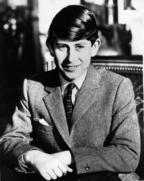 Prince Charles as a teenager