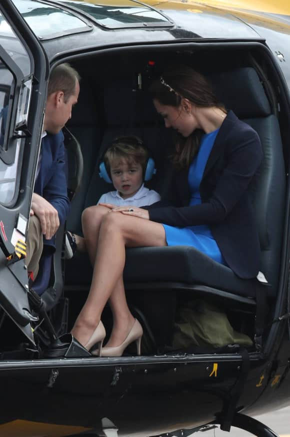 Prince William and Duchess Catherine with little Prince George