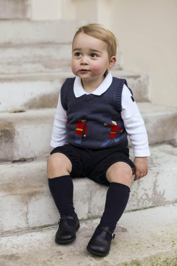 Prinz George an Weihnachten 2014