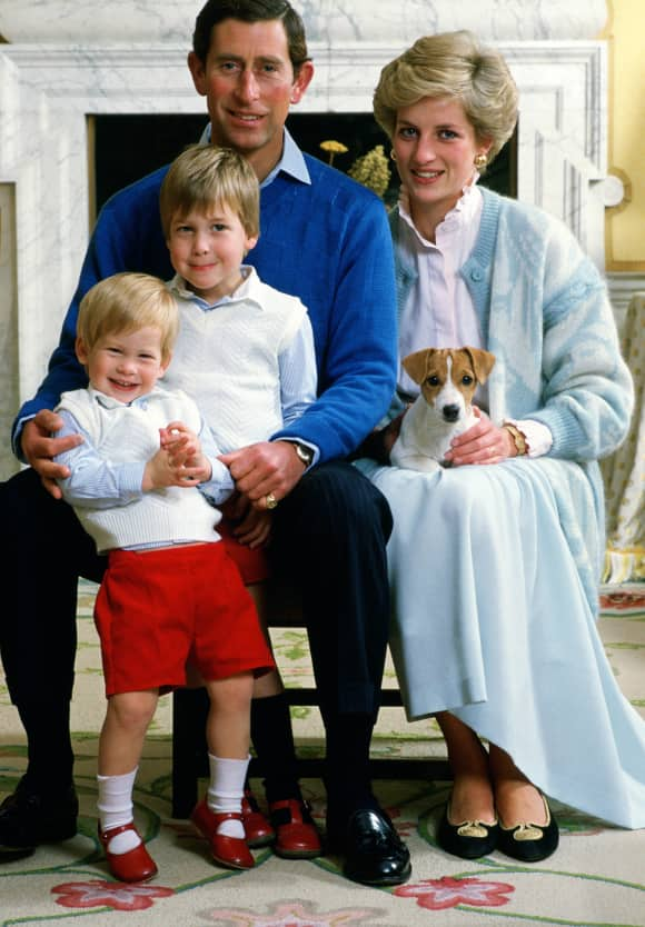 Prince Harry, Prince William, Prince Charles and Princess Diana