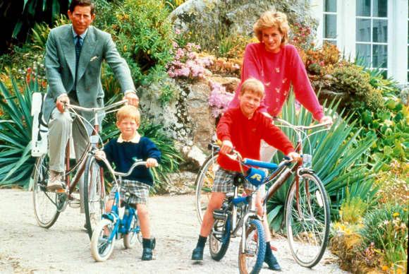 Prince Charles, Prince Harry, Prince William and Princess Diana