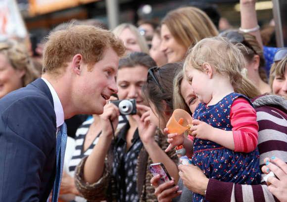 Prinz Harry zeigte sich sehr volksnah
