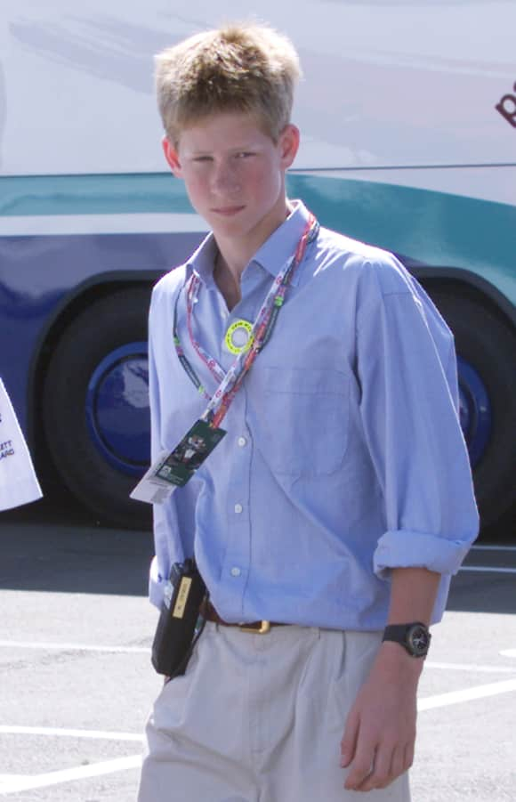 Prince Harry as a teenager