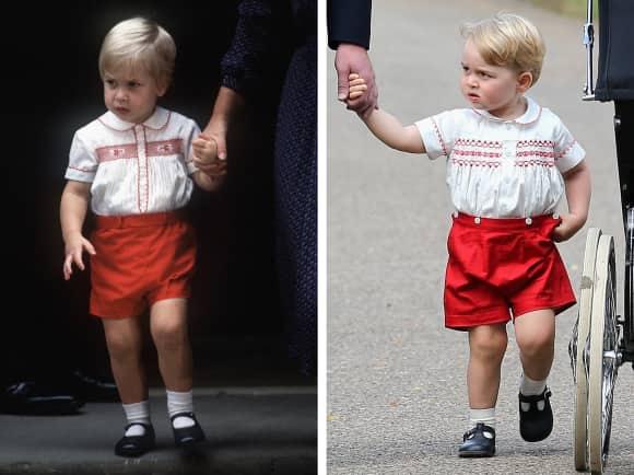 Prinz William (1984) und Prinz George (2015)
