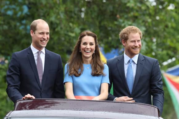 Prince William, Duchess Catherine and Prince Harry