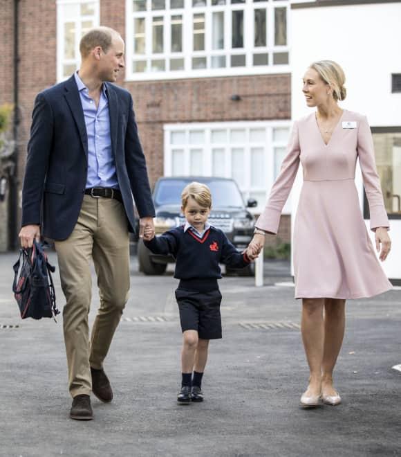 Prinz George hatte am 7. September seinen ersten Schultag