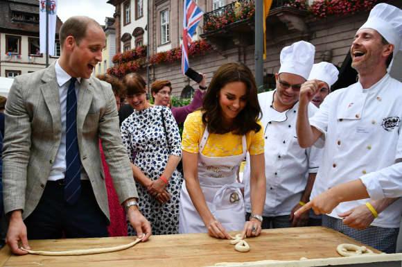 Prince William and Duchess Catherine in Heidelberg