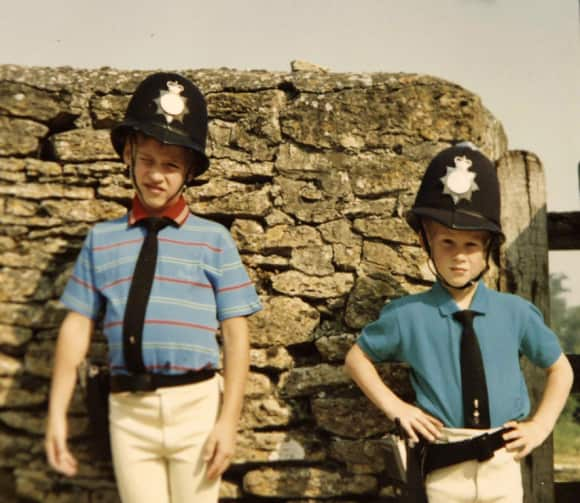 Prince William and Prince Harry as kids