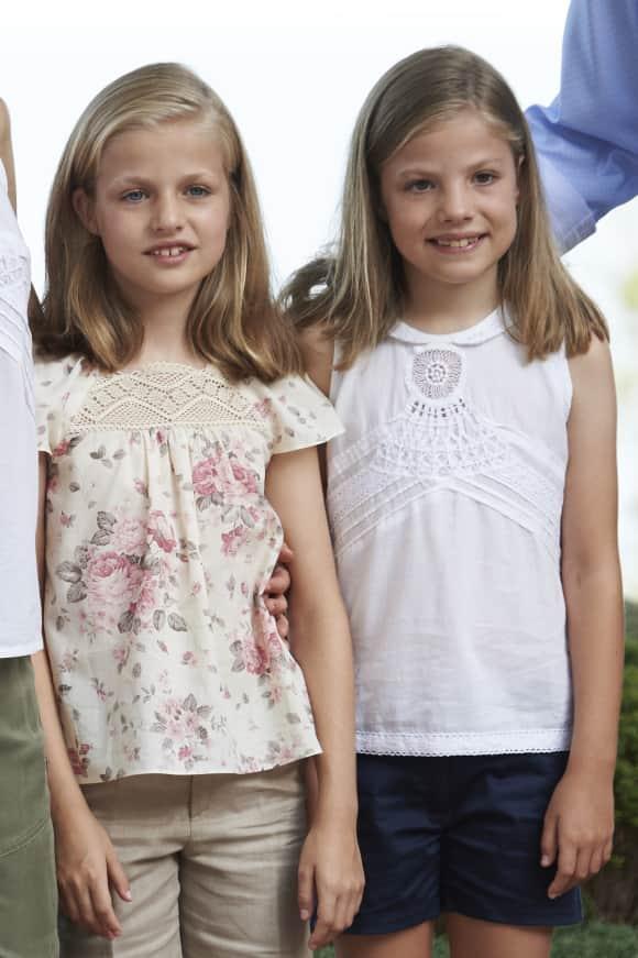Prinzessin Leonor und Sofia sind die Töchter von Felipe und Letizia