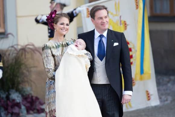 Prinzessin Madeleine, Chris O'Neill und Prinz Nicolas am 11. Oktober 2015