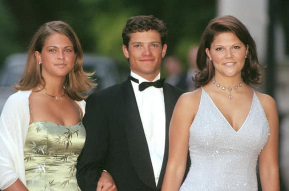 Princess Victoria, Princess Madeleine and Prince Carl Phlip as teenagers